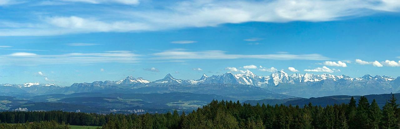 Sicht Alpen